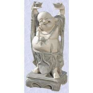 jolly Asian buddha statue home garden hotei sculpture (the