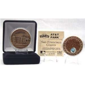 San Francisco Giants At&T Park Authenticated Infield Dirt Coin