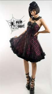 Gothic Lolita Corset Lace Puff Skirt Dress w/ Chocker R