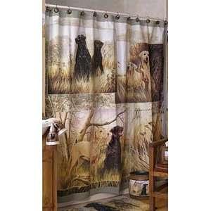 LABRADOR Retriever Hunting Dog Print SHOWER Curtain NEW