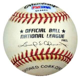 Chipper Jones Autographed Signed NL Baseball PSA/DNA #Q19462