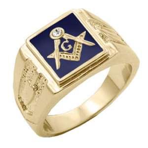 MASONIC MASON GOLD BLUE COLOR RING ALL SIZES