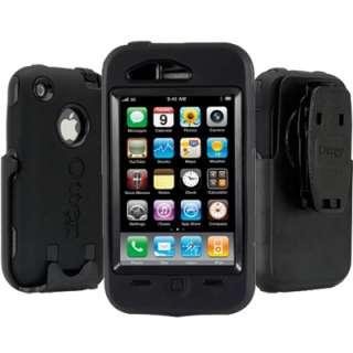 iPhone 3g 3gs OtterBox Defender Series Case Black + Belt Clip New
