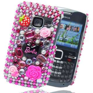 FOR NOKIA C3 00 BARBIE DIAMOND FLOWER HOT PINK HARD PLASTIC CASE COVER