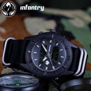 New Mens Black Army Durl Core INFANTRY Digital Watch