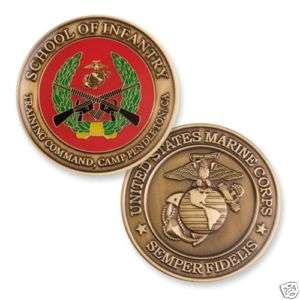 Marine Corps School of Infantry Challenge Coin. USMC CP