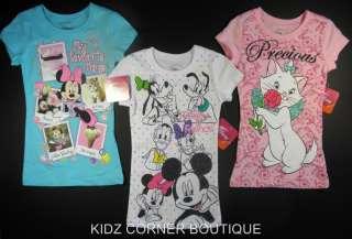 Disney MINNIE MOUSE or Precious MARIE The Cat T Shirt 4 5 6 6X 7 8 10