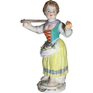 Meissen hand painted Garden Children Sculpture entitled