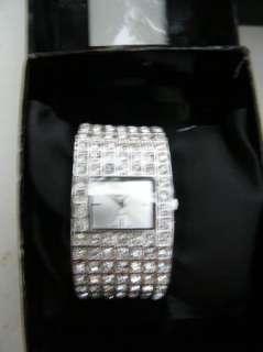 BEBE WATCH swarovsky crystal link 188135 new