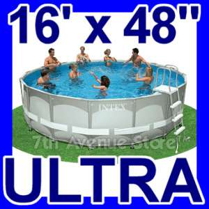 16 Intex Metal Ultra Frame Above Ground Pool Easy Set 078257398539