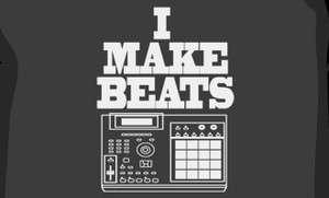 MAKE BEATS T SHIRT MPC SP1200 RECORDS VINYL PETE ROCK