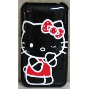 HELLO KITTY IPHONE CASE IPHONE 3G 3GS COVER W/ 1 SWAROVSKI