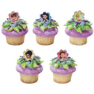 Disney Fairies Tinker Bell & Friends Cupcake Toppers   24 Twist Rings