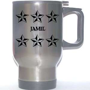 Personal Name Gift   JAMIL Stainless Steel Mug (black