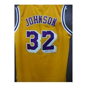 Magic Johnson Autographed Jersey   Autographed NBA Jerseys
