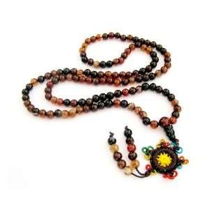 108 Agate Beads Tibetan Buddhist Prayer Japa Mala Necklace Jewelry