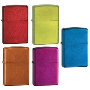 Zippo Lighter Set   Cerulean, Lurid, Raspberry, Toffee and