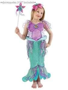 NEW Disney The Little Mermaid Ariel Costume Dress 5 8Y (CUT LABEL