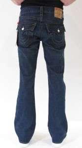 True Religion Jeans Billy Bootcut Jud Monte Dark Blue Men New