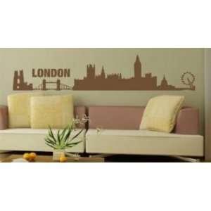 London Skyline Wall Decal