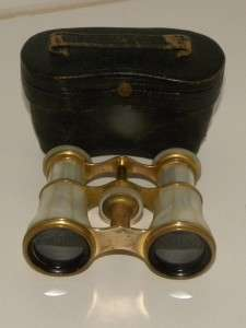 Antique Lemaire Fabt Paris Opera Glasses Mother Of Pearl Binoculars