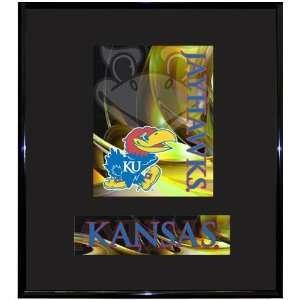 Kansas Jayhawks KU NCAA Basketball 13 X 15 Framed Logo