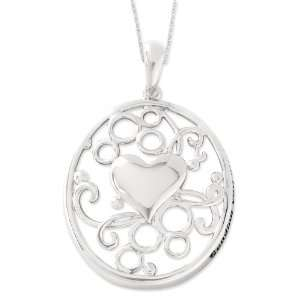Sterling Silver Sending You My Love Sentimental Expressions Necklace