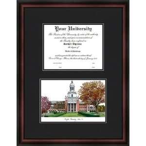 Baylor University Bears Diploma Frame & Lithograph Print