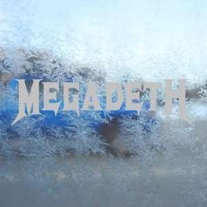 Megadeth Gray Decal Metal Rock Band Truck Window Gray