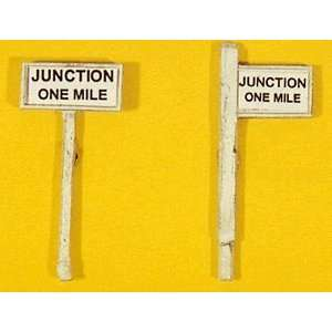 JUNCTION ONE MILE SIGNS   JL INNOVATIVE DESIGN HO SCALE MODEL TRAIN