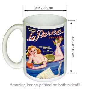 La Paree Stories Pin up Girl Pulp Art Vintage COFFEE MUG