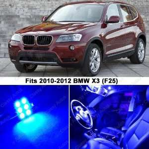 BMW X3 ULTRA BLUE LED Lights Interior Package Kit F25 (17