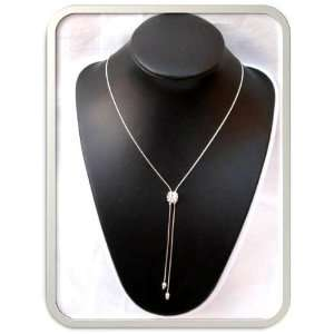 Silver 925 Chain Rhinestone Clear Necklace Bridal