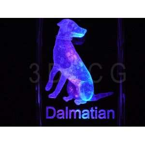 Dalmation Dog 3D Laser Etched Crystal FREE SHIPPING