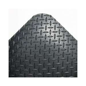 Deck Plate Antifatigue Mat, Vinyl, 24 x 36, Black