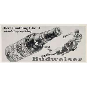1950 Billboard Budweiser Beer Football Players Tackle
