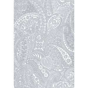 Paisley Print Grey by F Schumacher Wallpaper