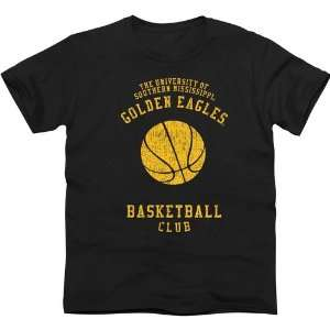 Southern Miss Golden Eagles Club Slim Fit T Shirt   Black