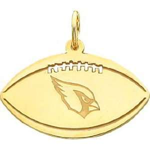 14K Gold NFL Arizona Cardinals Logo Football Charm: Sports