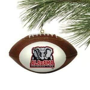 Alabama Crimson Tide Mini Football Christmas Ornament