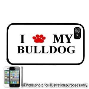 Bulldog Paw Love Dog Apple iPhone 4 4S Case Cover Black