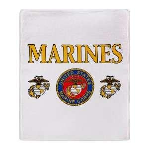 Throw Blanket Marines United States Marine Corps Seal