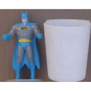 Batman PVC Figure With Plastic Cup 1988 Burger King