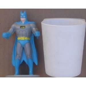 Batman PVC Figure With Plastic Cup 1988 Burger King
