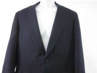 PAUL STUART Mens Wool Navy Blue Blazer Sz 39 R
