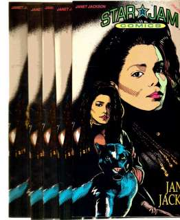 LOT OF 5 STAR JAM COMICS #2 1992 JANET JACKSON VF NM
