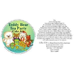 Teddy Bear Tea Party Cake Kit  Grocery & Gourmet Food