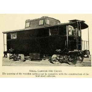 Pennsylvania Railroad Builds First Steel Caboose Train Locomotive