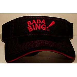 The Sopranos TV Show Bada Bing Logo Embroidered Visor