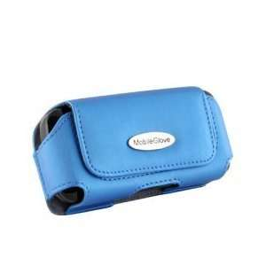 Mobile Glove Luxus Navy Blue leather horizontal case for